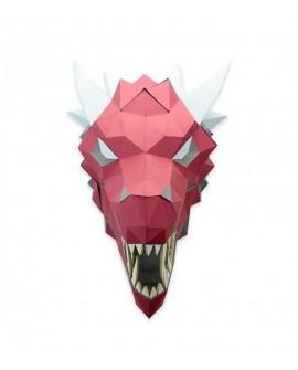 dragon papier 3D rouge